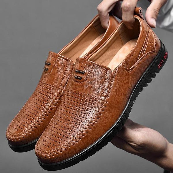 Plus Size Men Genuine Leather Comfortable Casual Shoes (Buy More For Extra Discount)
