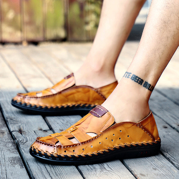 2019 fashion summer leather sandals beach shoes