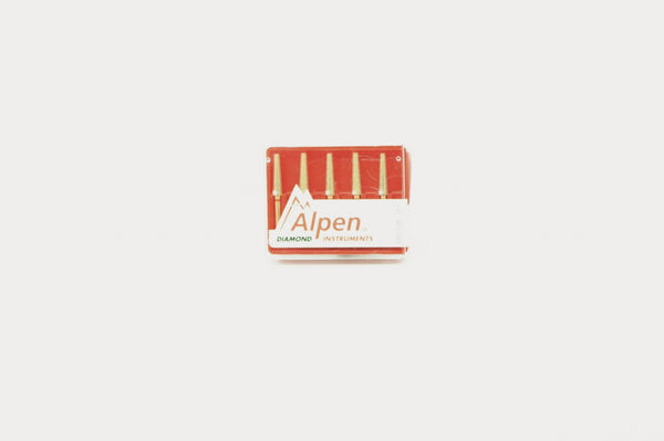 Alpen 023 Diamond Flat End Taper Fine Bur (5/pkg)