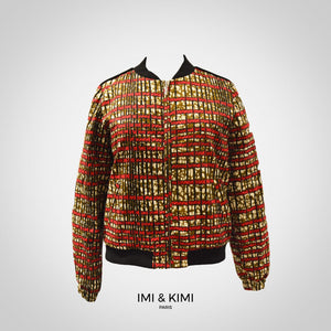 Women Bombers - Brown & Red