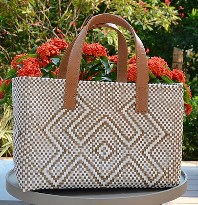 Cangrejo blanco Small tote bag