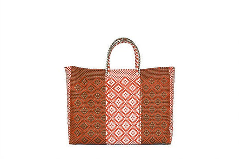 Papaya Large tote bag