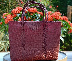 Paloma Burgundy Small tote bag