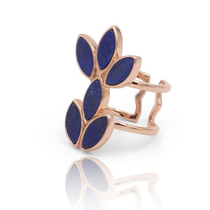 Floral Escape Lapis Lazuli Cocktail Ring