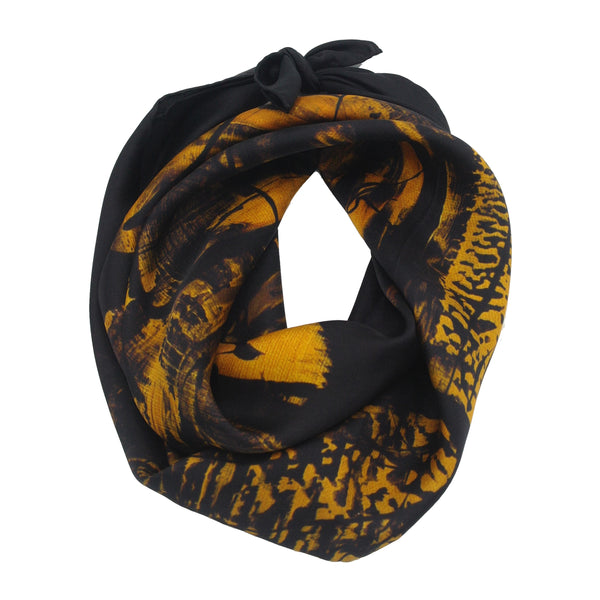 """Songe d'une nuit"" Silk twill scarf"