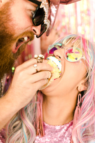 Sequin Sale Cupcake in Mouth