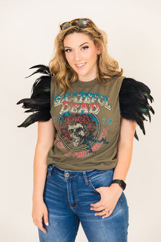 Grateful Dead Feather Sleeve Party Tee