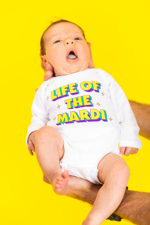 Life of the Mardi Baby Onesie Mardi Gras Baby Fashion
