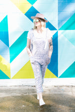 Silver Sequin Party Jumpsuit