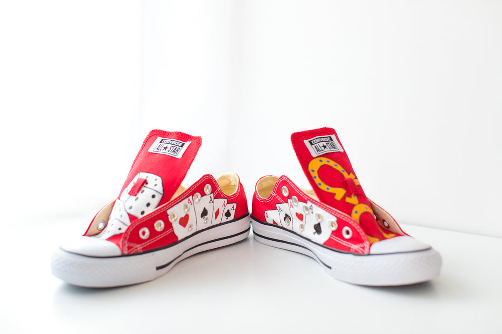 Lucky Chucks Hand Painted Converse Sneakers