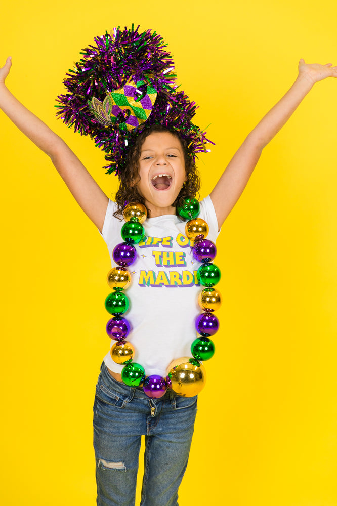 Life of the Mardi Young Adult Party Tee Mardi Gras Kid's Fashion