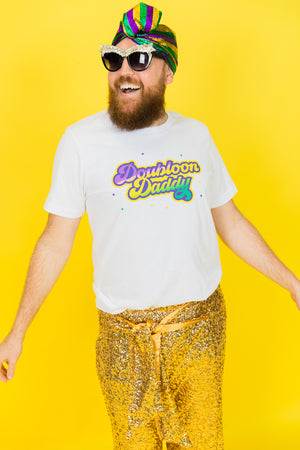 Doubloon Daddy Mardi Gras Party Tee Mardi Gras Fashion