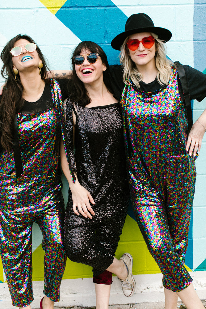 Rainbow Sequin Party Jumpsuit