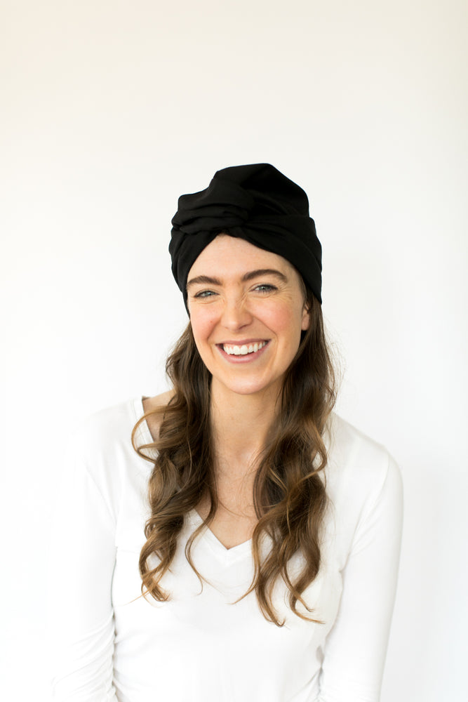 Black Cotton Headwrap