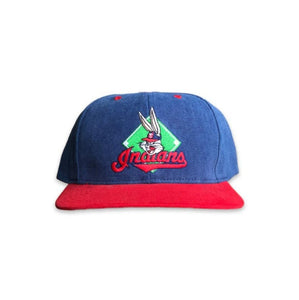 Vintage 1996 Looney Tunes Cleveland Indians Youth Strapback Hat