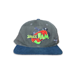 Vintage 1996 Space Jam Looney Tunes Bugs And Monstar Strapback Hat Cap