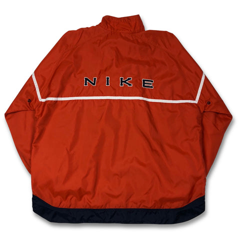 Vintage '90s Nike Spell Out Big Logo ¼ Zip Up Jacket