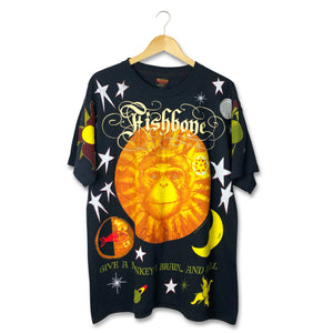 Vintage 1993 Fishbone 'Give A Monkey A Brain' Tshirt Size XL