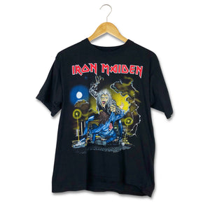 Vintage 1990 Iron Maiden No Prayer On The Road Tour Tshirt