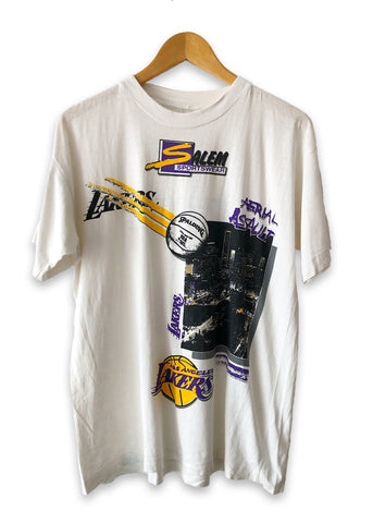 Vintage 90s Salem Sportswear Starter Los Angeles Lakers Tshirt