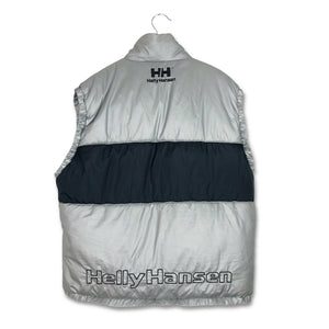 Vintage 90s Helly Hansen Spell Out Logo Down Bodywarmer Jacket XL