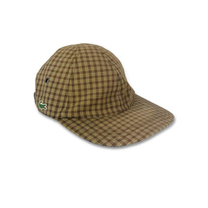 Vintage '90s Lacoste checkered 6 panel cap hat size 2