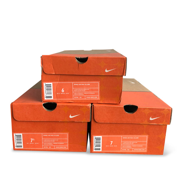 Set of 3 boxes of the Nike Air Max Allure 2004.