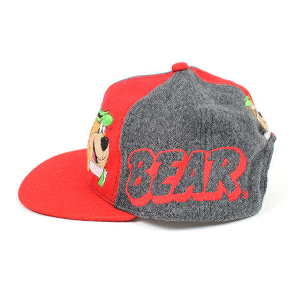 Vintage 1995 Yogi Bear Snapback Hat Red