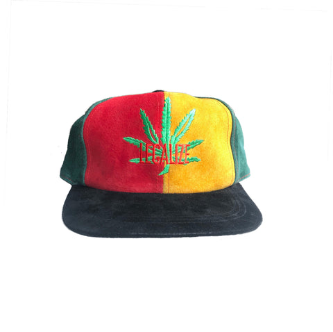 Vintage 90s Legalize Leather Strapback Hat