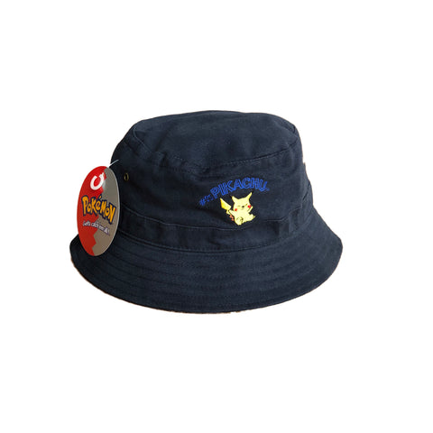 Vintage 2000 Pokemon Pikachu Bucket Hat 54cm Youth Size