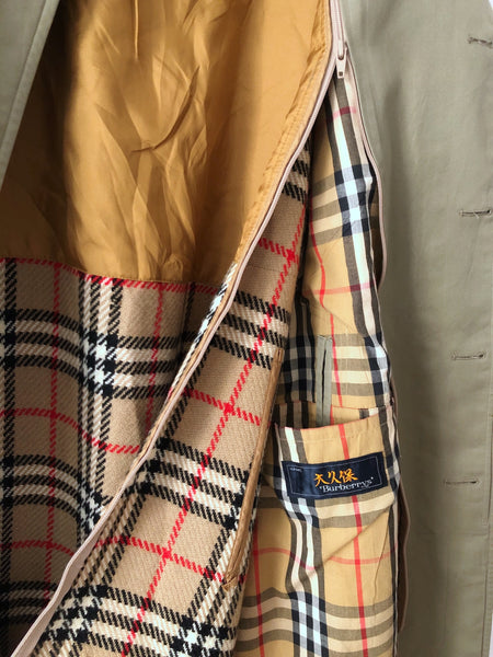 Vintage Burberry Mens Nova Check Trench Coat M/L
