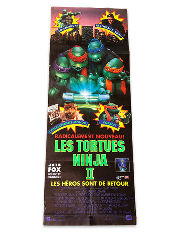 1991 Teenage Mutant Ninja Turtles 2 French Movie Poster