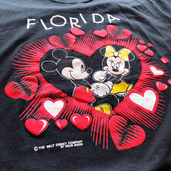 Vintage 80s Mickey And Minnie Mouse Love Tshirt