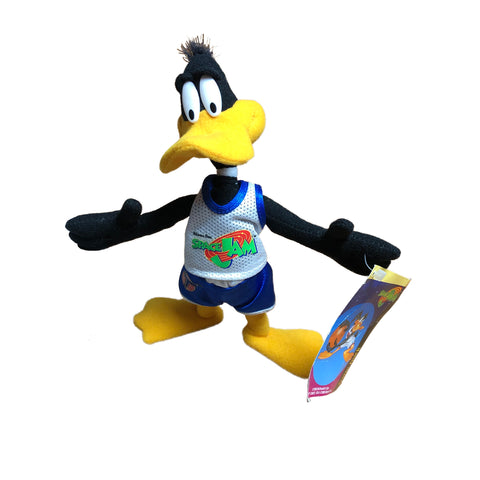 "Vintage 1996 Space Jam Daffy Duck 8"" Plush Figure"