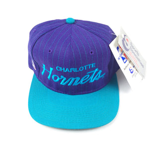 Vintage 1990s Charlotte Hornets Sports Specialties Script Snapback Hat
