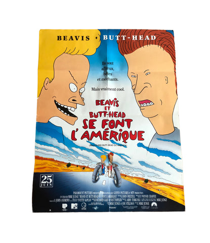 1996 Beavis And Butt-Head Do America French Movie Poster