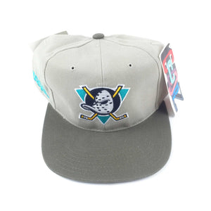 e61ae5950fe Vintage  90s Mighty Ducks American Needle Blockhead Snapback Hat