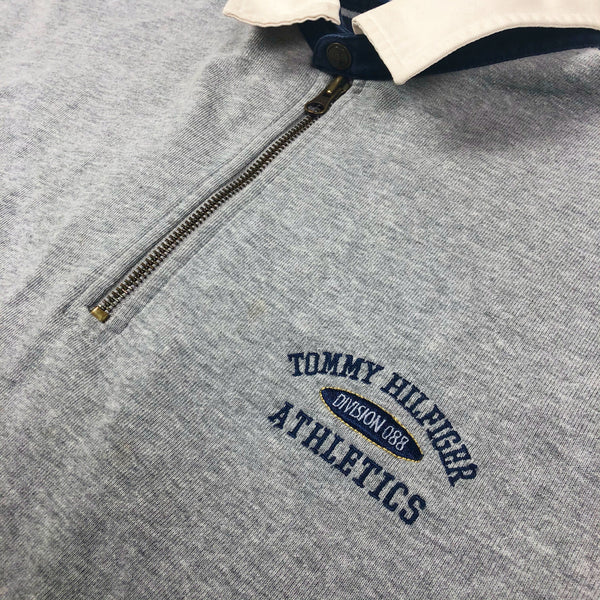Vintage '90s Tommy Hilfiger Spell Out Rugby Sweatshirt XL