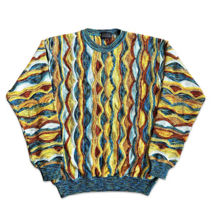 Vintage Cable Waves Knitwear Pullover S