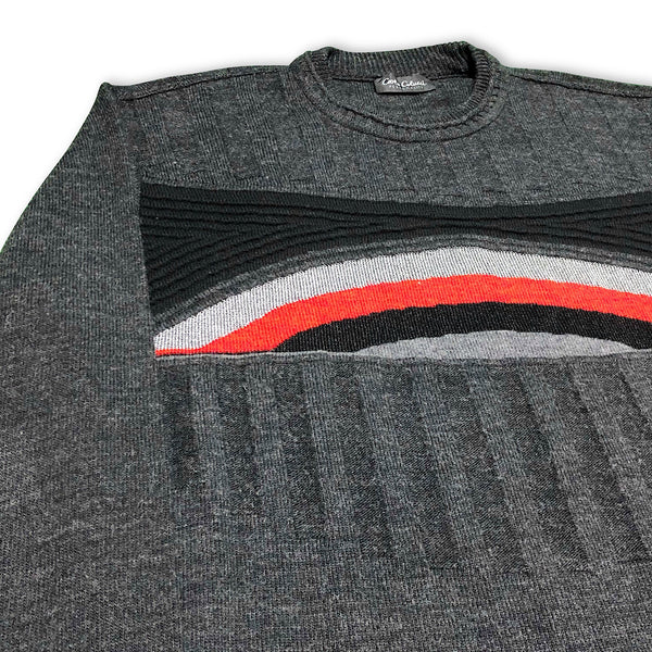 Vintage Carlo Colucci Red Rainbow Pullover L