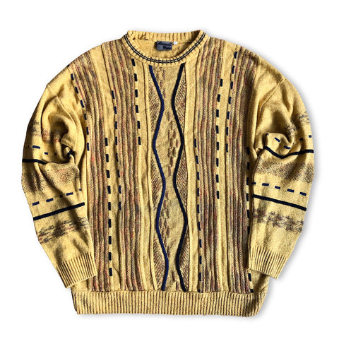 Vintage Soft Yellow Knitwear Pullover L