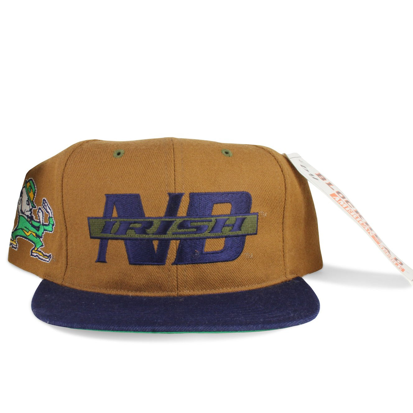 Vintage 1990s Notre Dame Fighting Irish NCAA American Needle Snapback Hat
