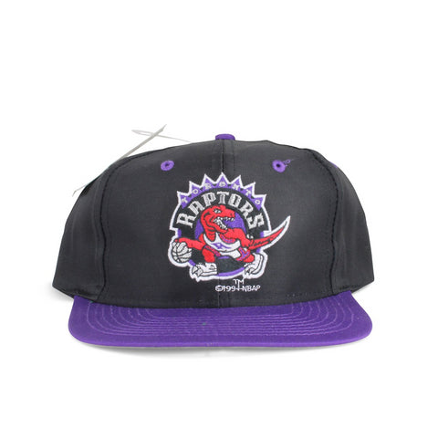Vintage Snapback Cap Hat Toronto Raptors Logo7 1994 Black Purple Adult One Size