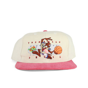 Vintage 1996 Taz Space Jam Spell Out Youth Strapback Hat