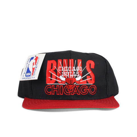 Vintage 1990s snapback hat Chicago Bulls made by AJD Signature New with tags front image