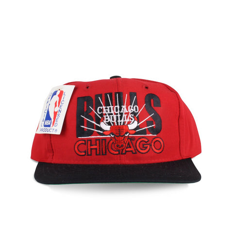 Vintage 1990s NBA Chicago Bulls AJD Signature Red Snapback Hat