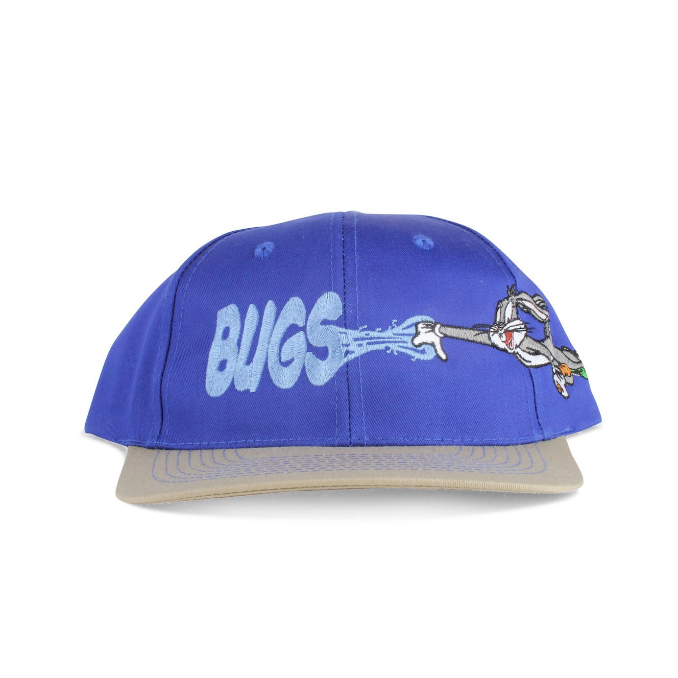 reputable site b5f3e b5c39 Vintage 1995 Bugs Bunny Looney Tunes Blue Snapback Hat