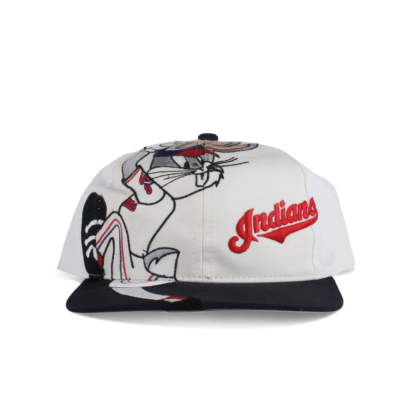 Vintage 1996 Looney Tunes Bugs Bunny Cleveland Indians Youth Snapback Hat