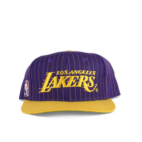 Vintage 1990s Los Angeles Lakers Pinstripe Script NBA Snapback Hat