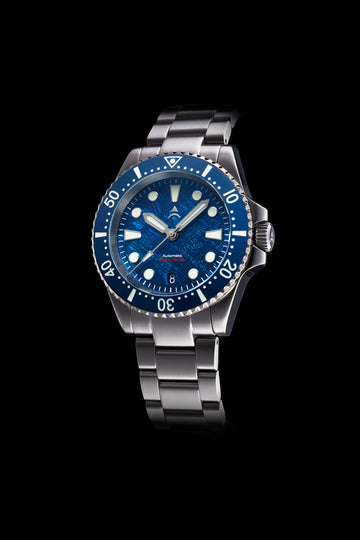 Axios Watches Ironclad 40 Deep Blue Meteorite